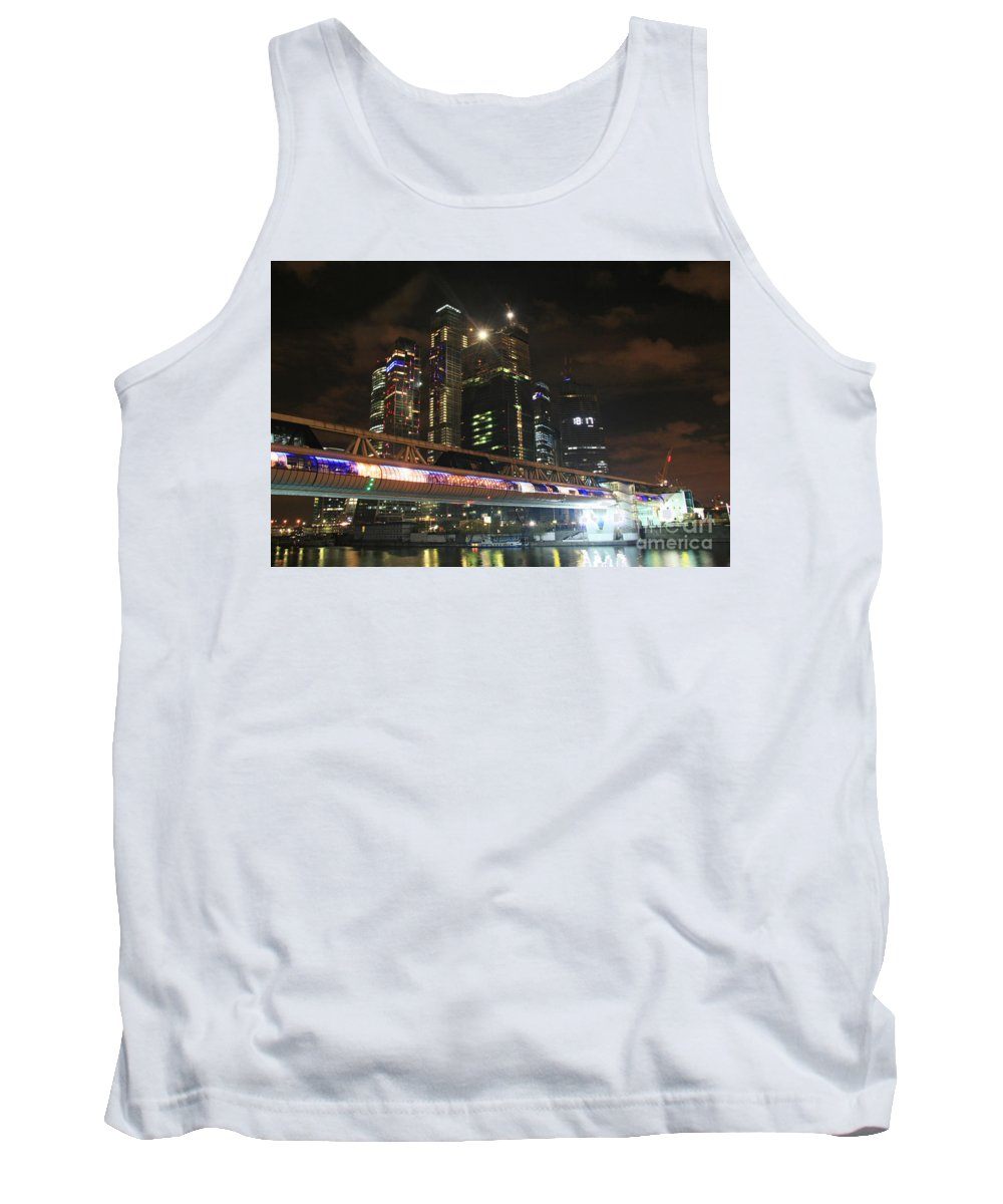 Night Tank Top featuring the photograph Moscow by Lali Kacharava