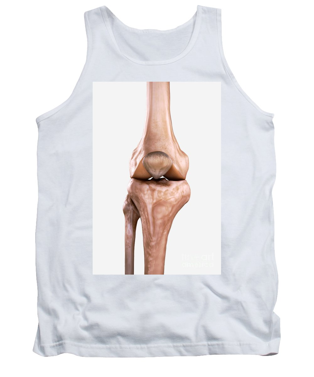 3d Visualisation Tank Top featuring the photograph Right Knee Bones by Science Picture Co