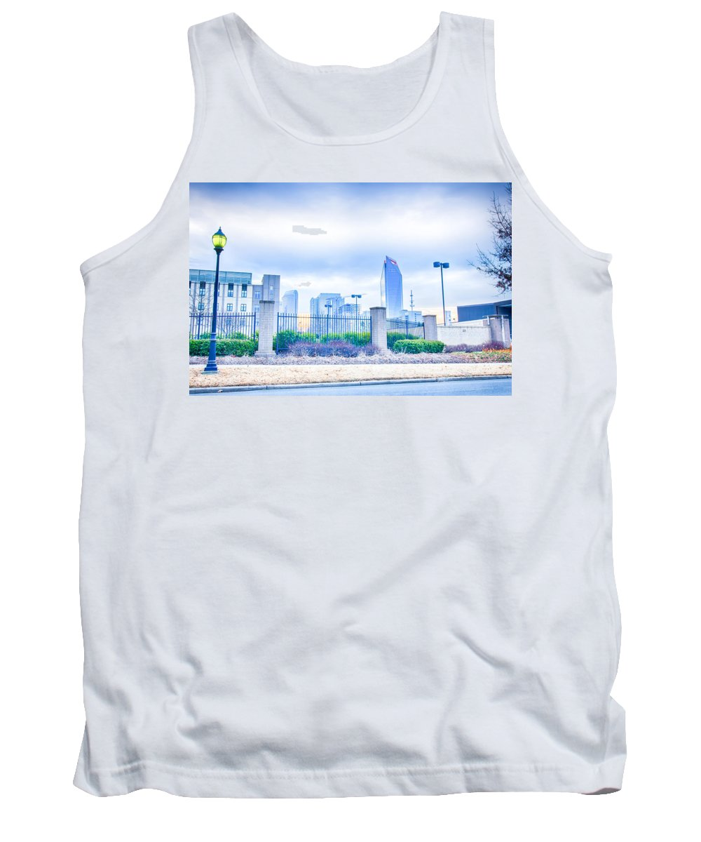 Alarm Tank Top featuring the photograph Charlotte Downtown by Alex Grichenko