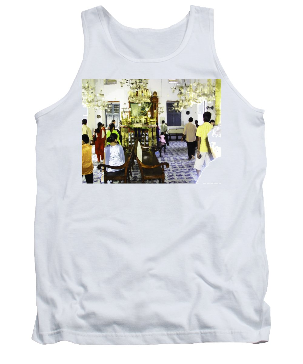Building Tank Top featuring the digital art Inside The Historic Jewish Synagogue In Cochin by Ashish Agarwal