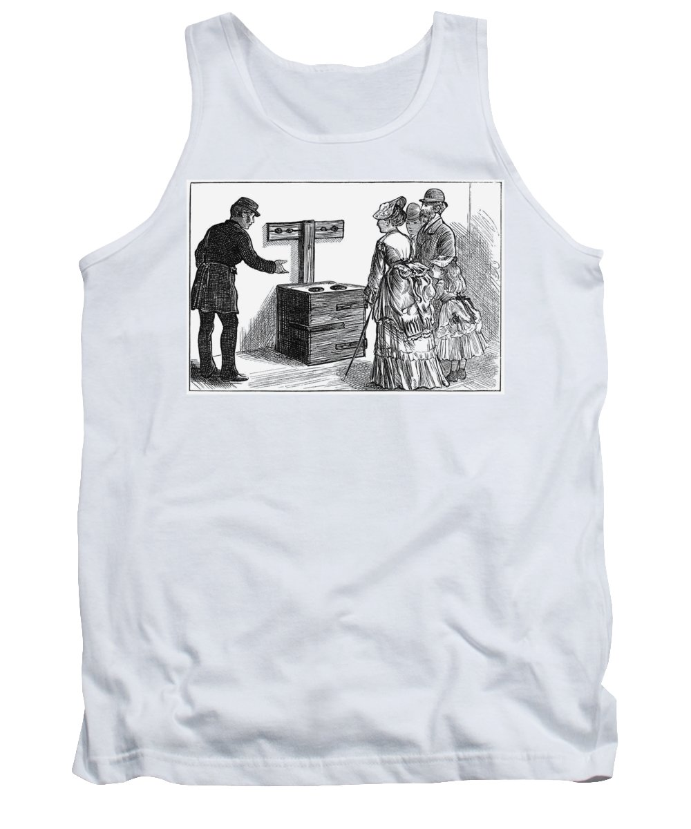 1873 Tank Top featuring the painting Newgate Prison, 1873 by Granger