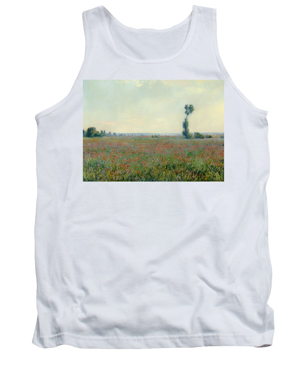 Painting Tank Top featuring the painting Poppy Field by Mountain Dreams