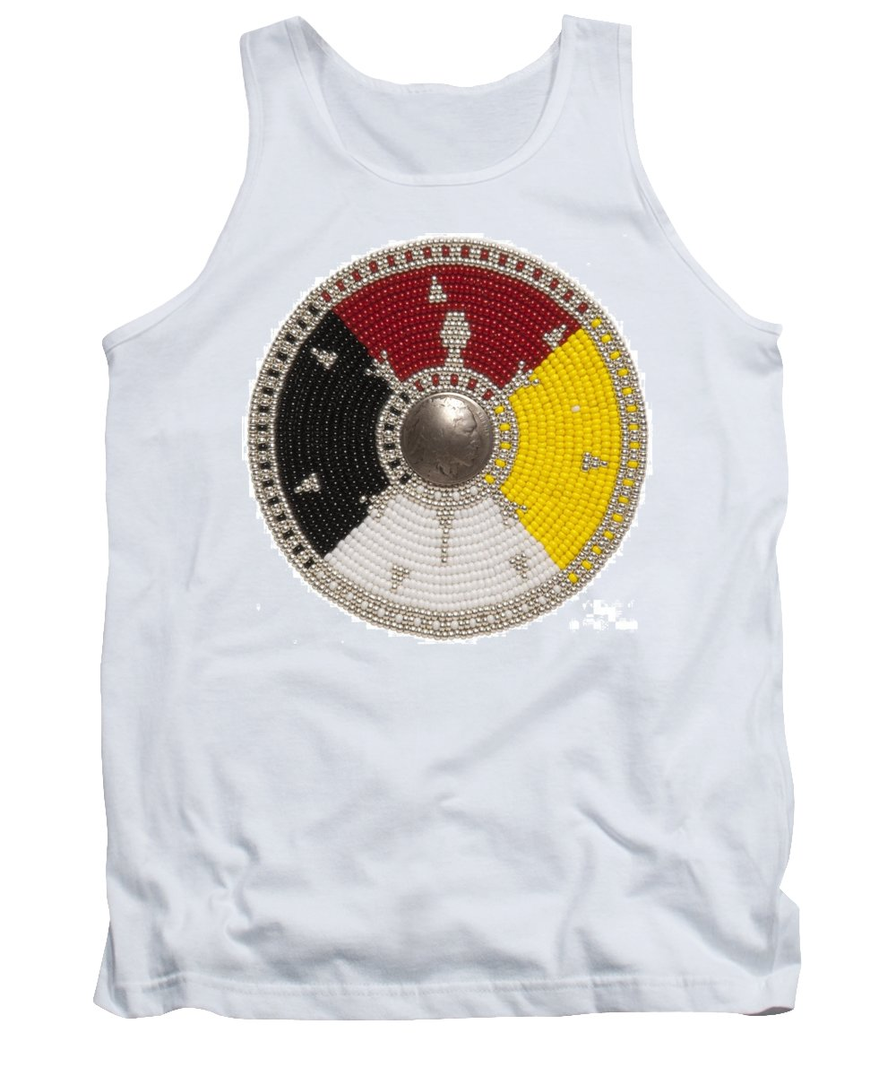 Medallion Tank Top featuring the digital art 7 Point Star by Douglas K Limon