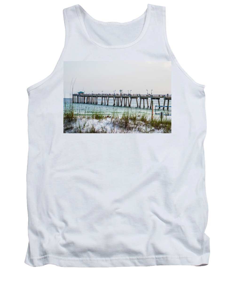 Atlantic Tank Top featuring the photograph Florida Beach Scene by Alex Grichenko