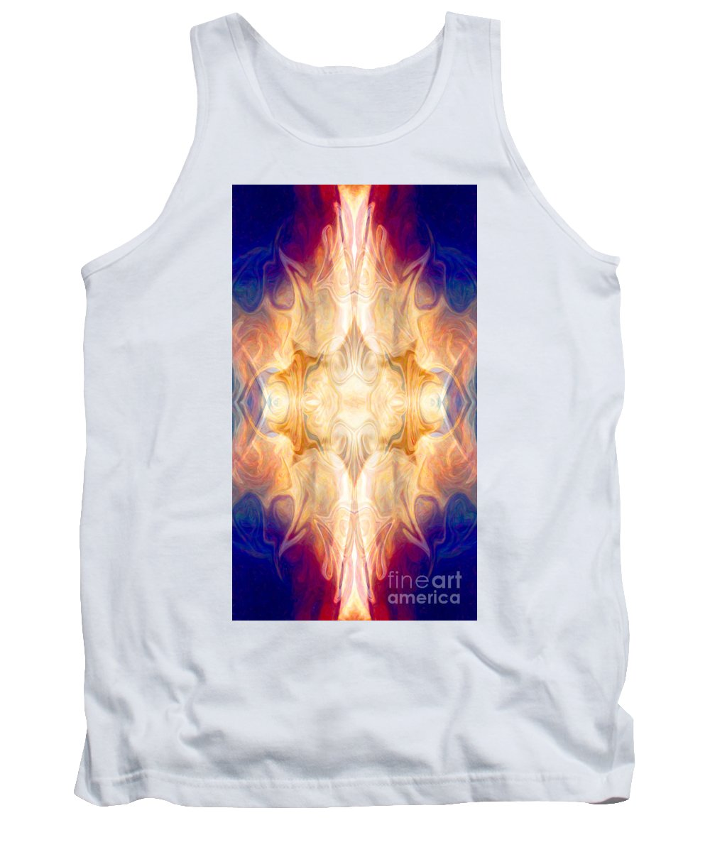 16x9 Tank Top featuring the painting A Burst Of Light Abstract Living Artwork By Omaste Witkowski by Omaste Witkowski