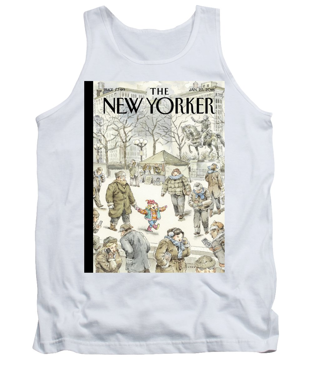 Child Tank Top featuring the painting Winter Delight by John Cuneo