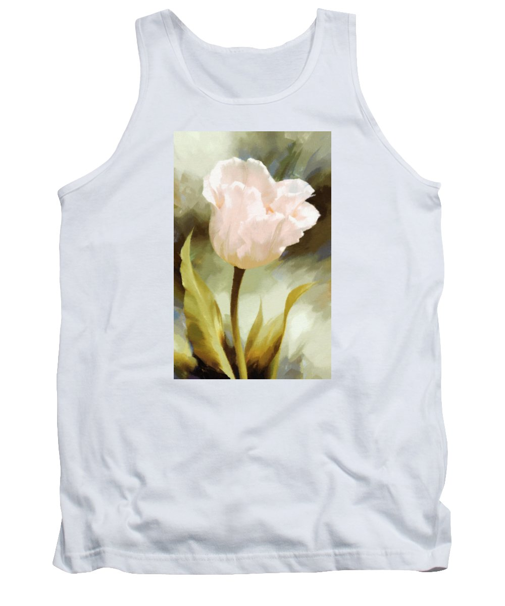 Impressionism Tank Top featuring the painting One Beautiful Flower Impressionism by Georgiana Romanovna