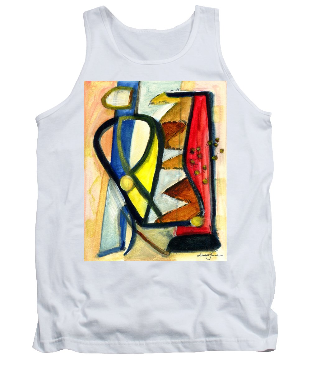 Abstract Art Tank Top featuring the painting A Perfect Image by Stephen Lucas