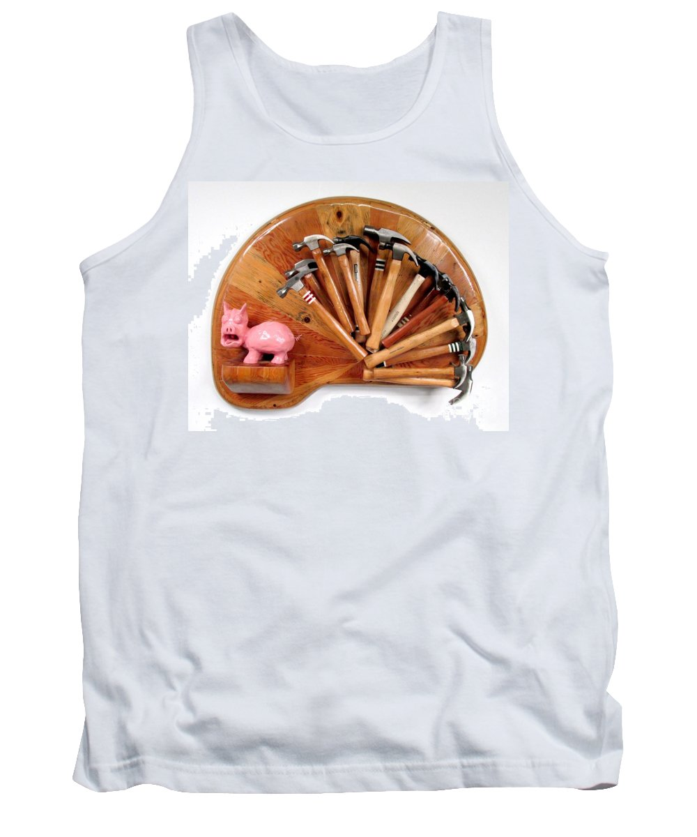 Czappa Tank Top featuring the relief A Pigs Interest  #64 by Bill Czappa