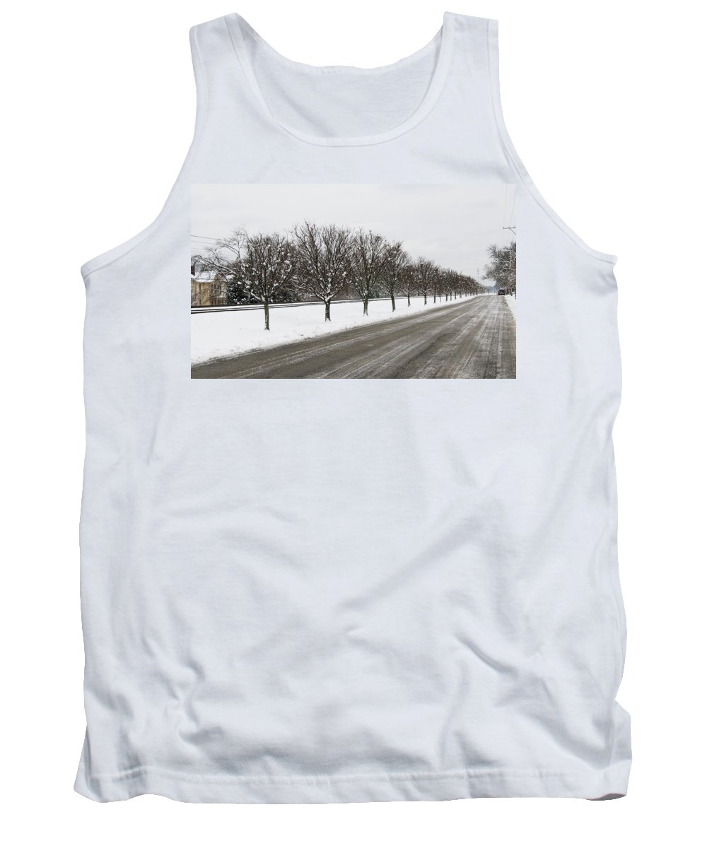 A Sequence Of Trees Tank Top featuring the photograph A Sequence Of Trees by Phyllis Taylor