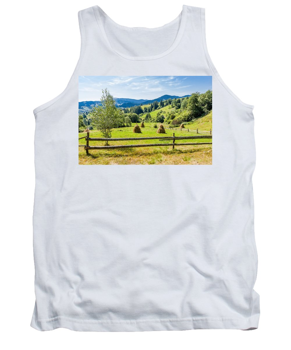 Carpathian Tank Top featuring the photograph A View From Carpathians by Alain De Maximy