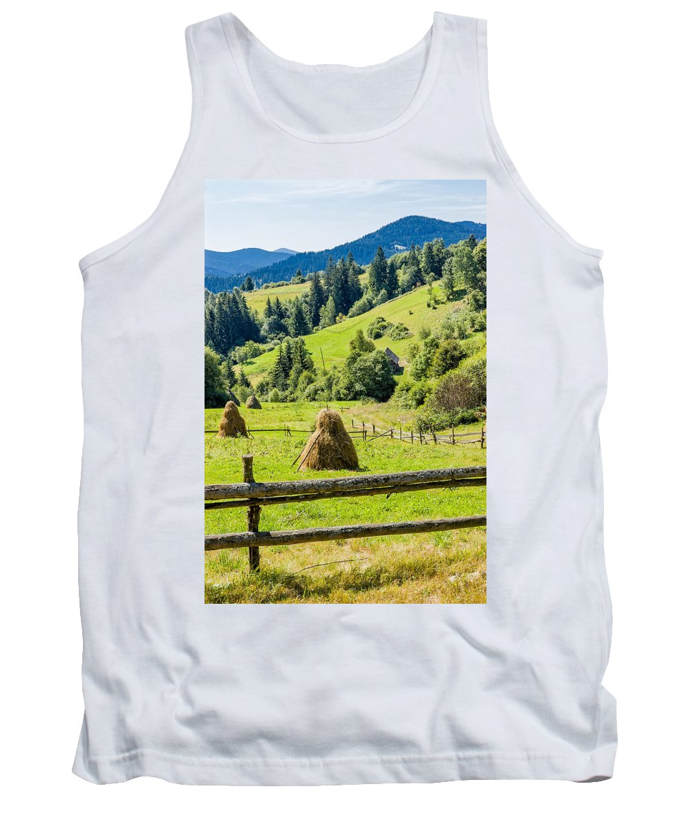 Carpathian Tank Top featuring the photograph A View From The Carpathians by Alain De Maximy