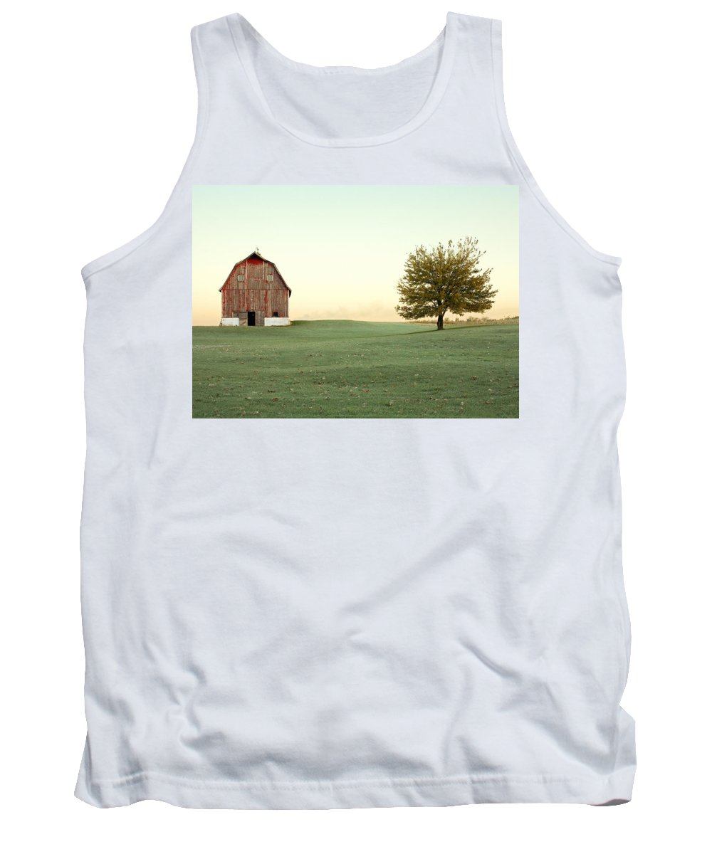 Barn Tank Top featuring the photograph A Wisconsin Postcard by Todd Klassy