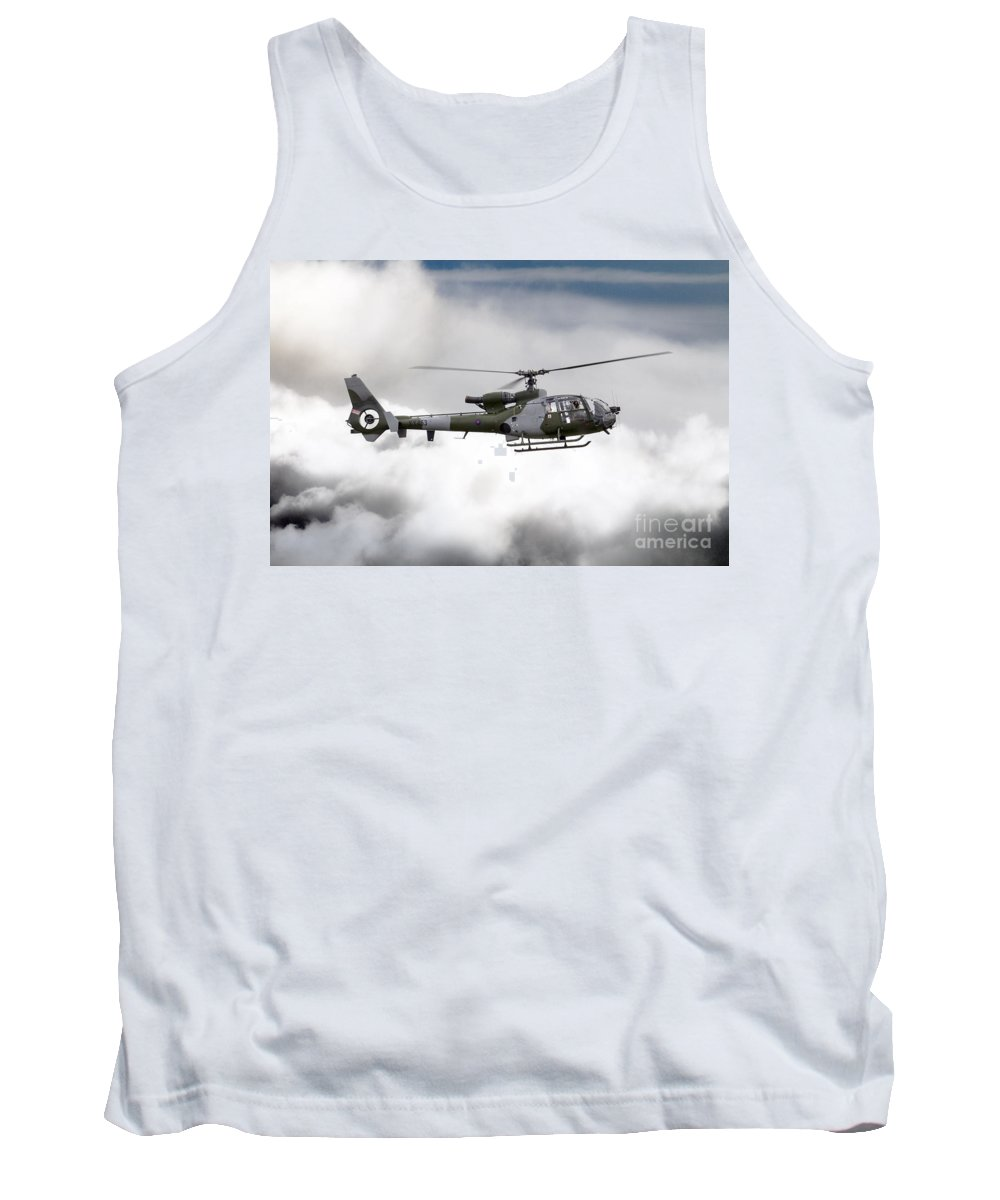 Westland Gazelle Tank Top featuring the digital art Aac Gazelle Xx453 by J Biggadike