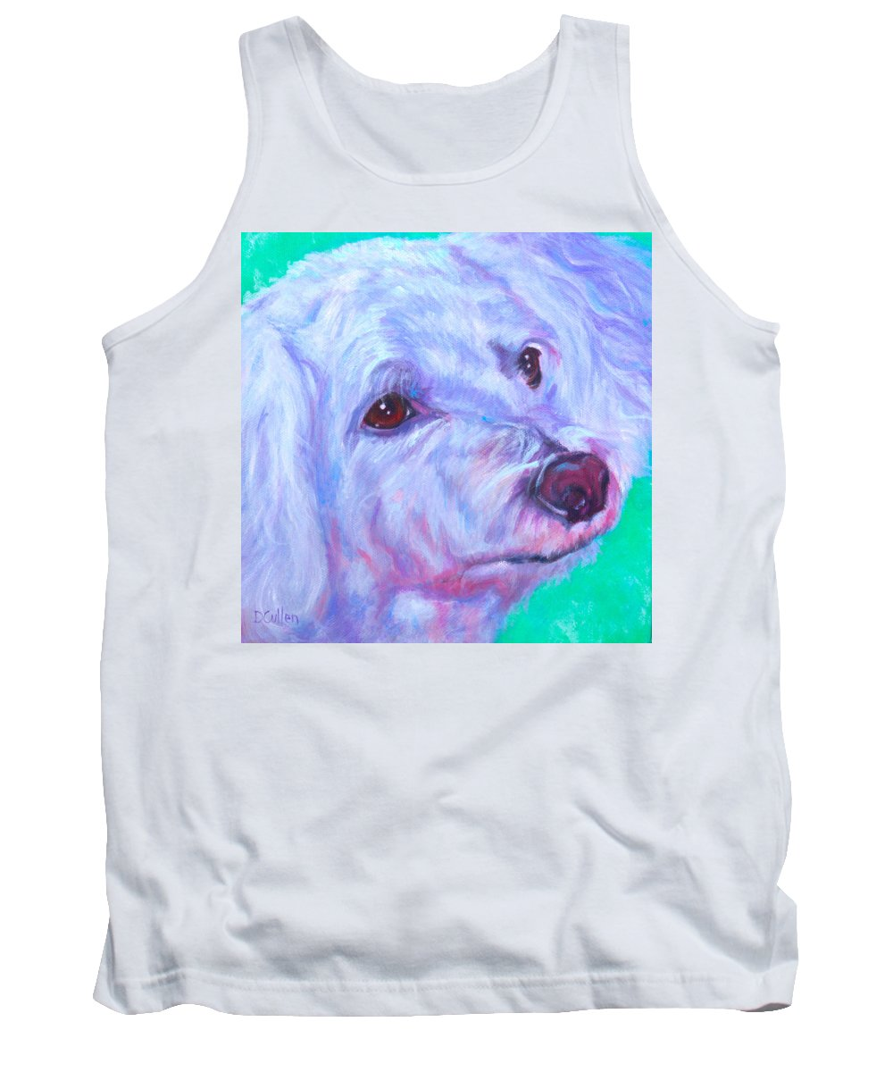 Dog Portrait Tank Top featuring the painting Abby by Deborah Cullen