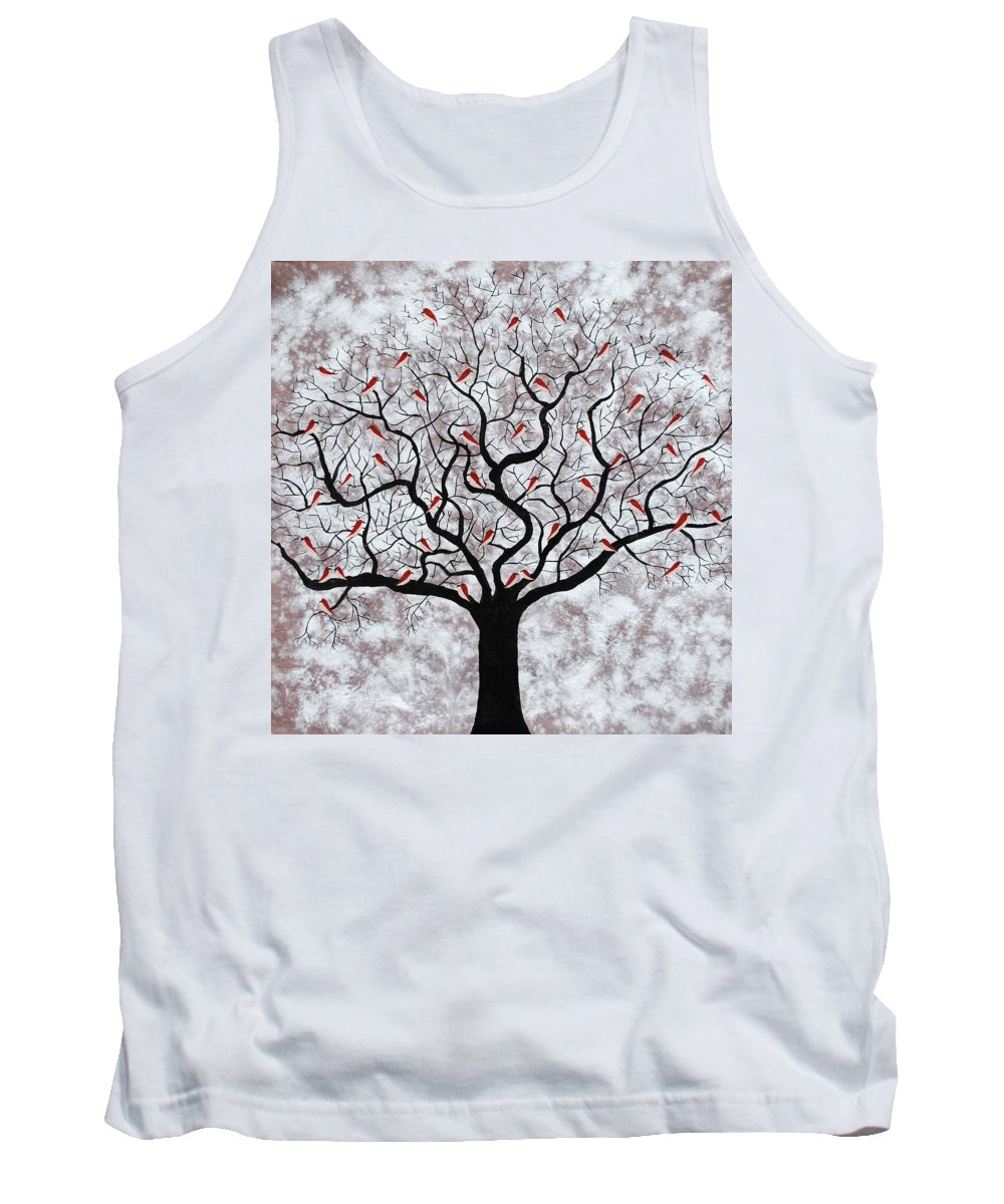 Roots Tank Top featuring the painting About To Rain by Sumit Mehndiratta