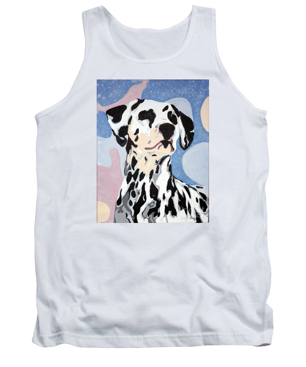 Dalmatian Tank Top featuring the painting Abstract Dalmatian by Jacki McGovern