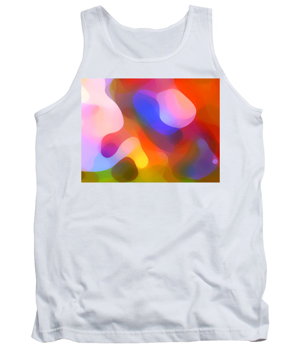 Abstract Art Tank Top featuring the painting Abstract Dappled Sunlight by Amy Vangsgard