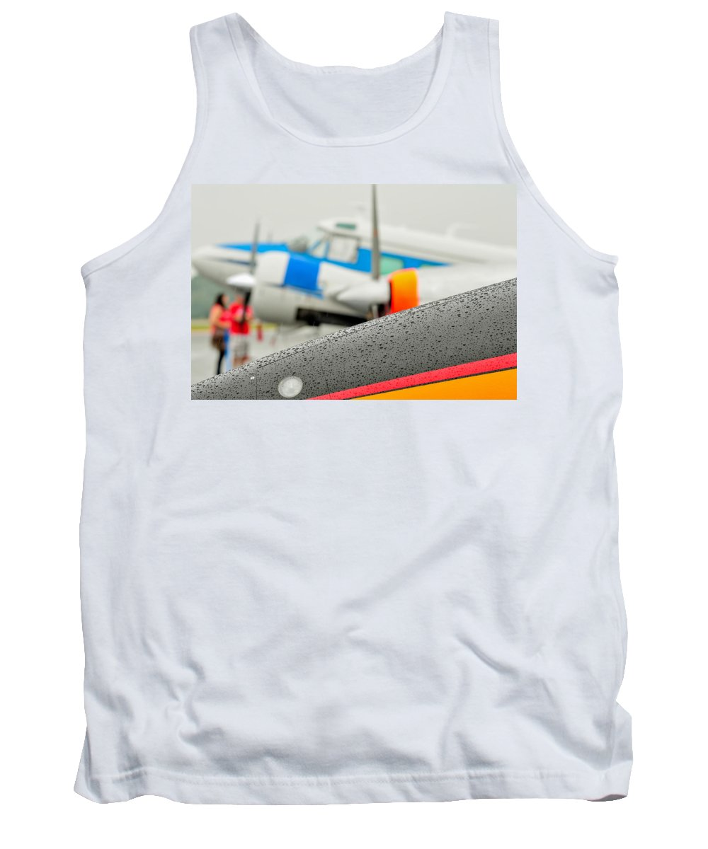 Abstract Tank Top featuring the photograph Abstract View Of Airshow During A Rain Storm by Alex Grichenko