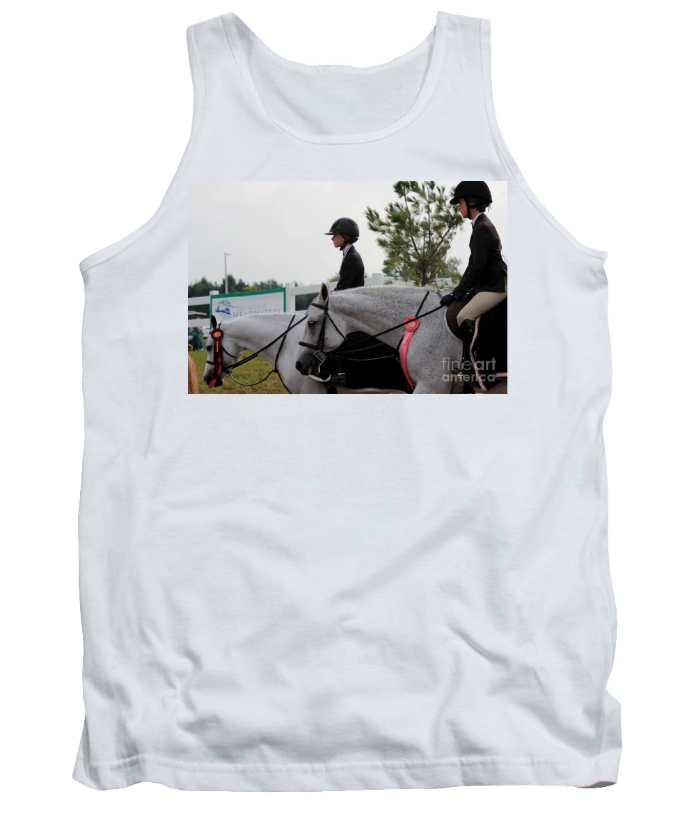 Horse Tank Top featuring the photograph Ac-hunter18 by Janice Byer