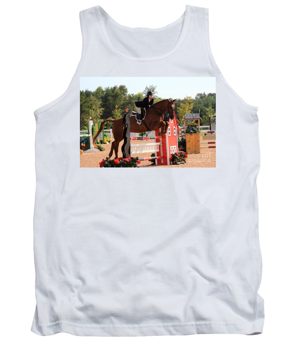 Horse Tank Top featuring the photograph Ac-medal23 by Janice Byer