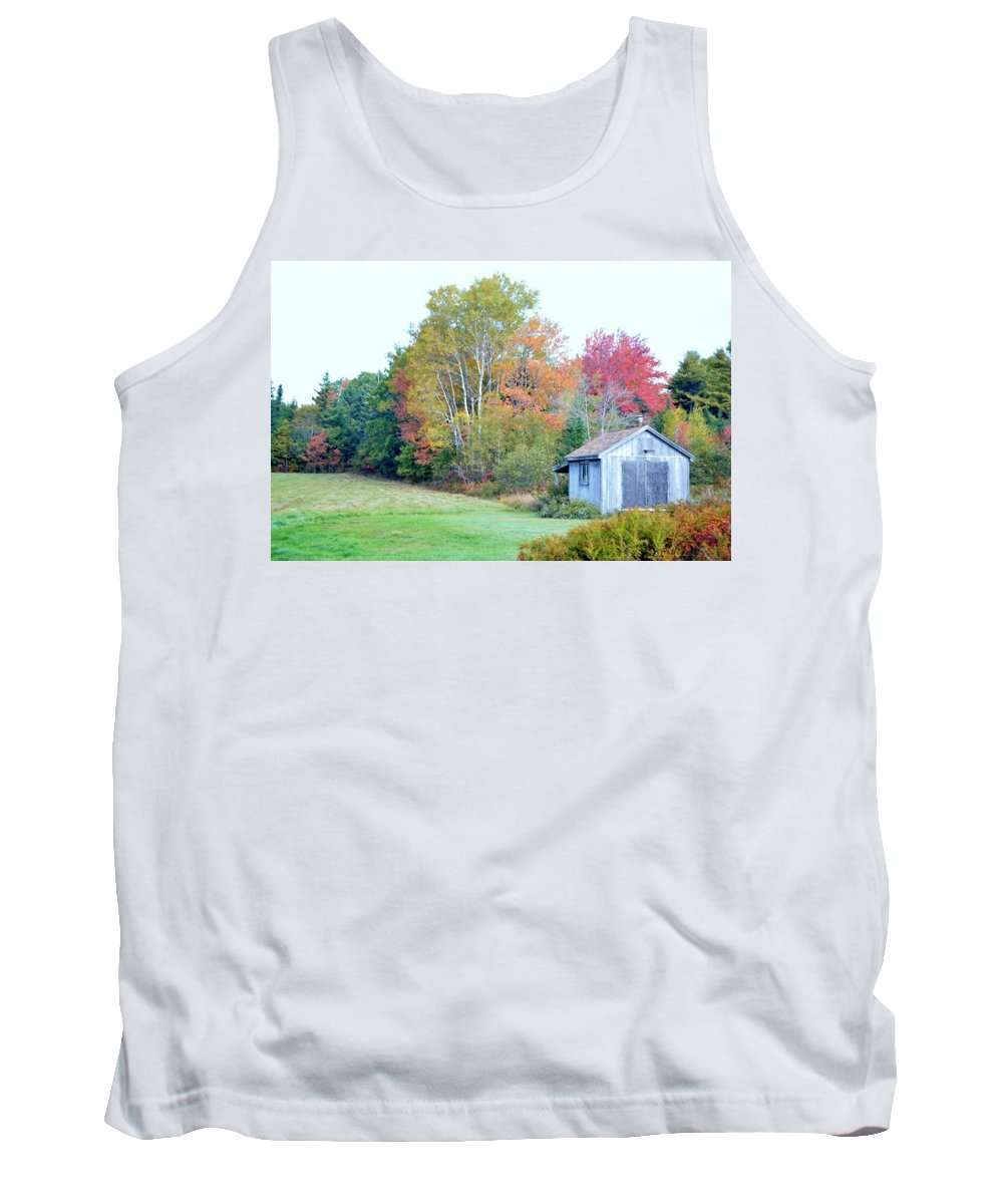 Autumn Tank Top featuring the photograph Acadia Autumn 2014 by Lena Hatch