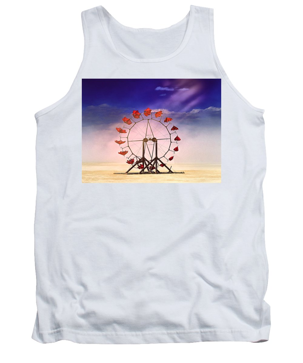 Windmill Tank Top featuring the photograph Acme High Voltage Cloud Juicer by Dominic Piperata