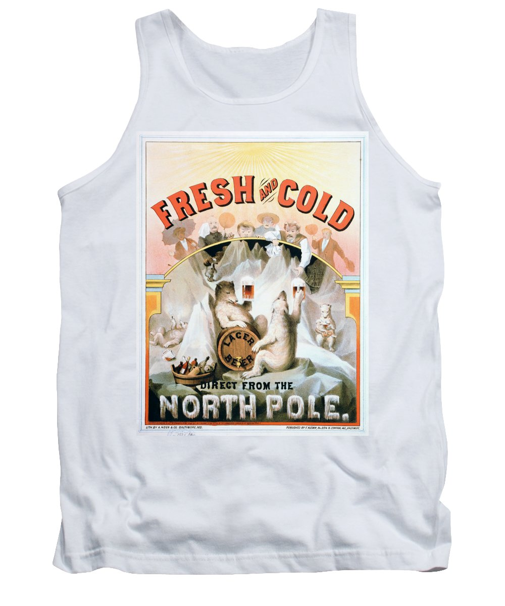 1877 Tank Top featuring the painting Ad Beer, C1877 by Granger