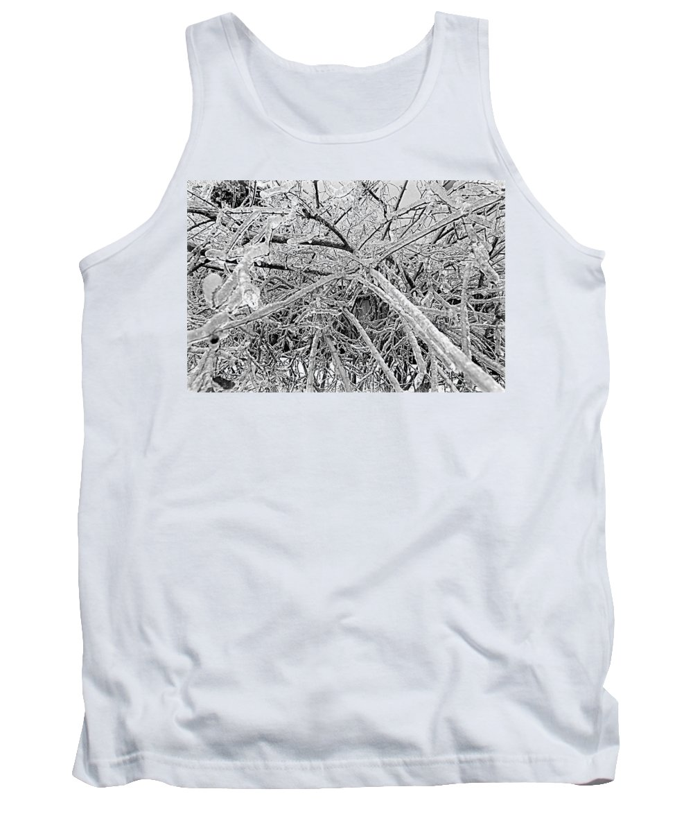 After Tank Top featuring the photograph After The Ice Storm by Valentino Visentini