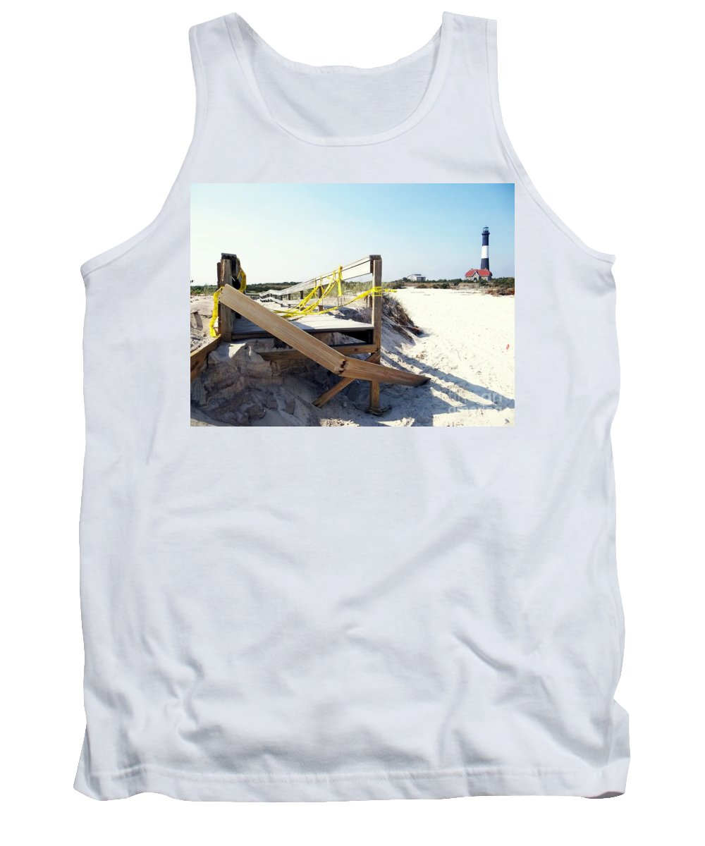 Fire Island Lighthouse Tank Top featuring the photograph After The Storm by Ed Weidman