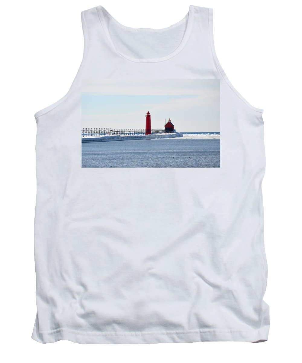 Grand Haven Tank Top featuring the photograph All Red by Linda Kerkau