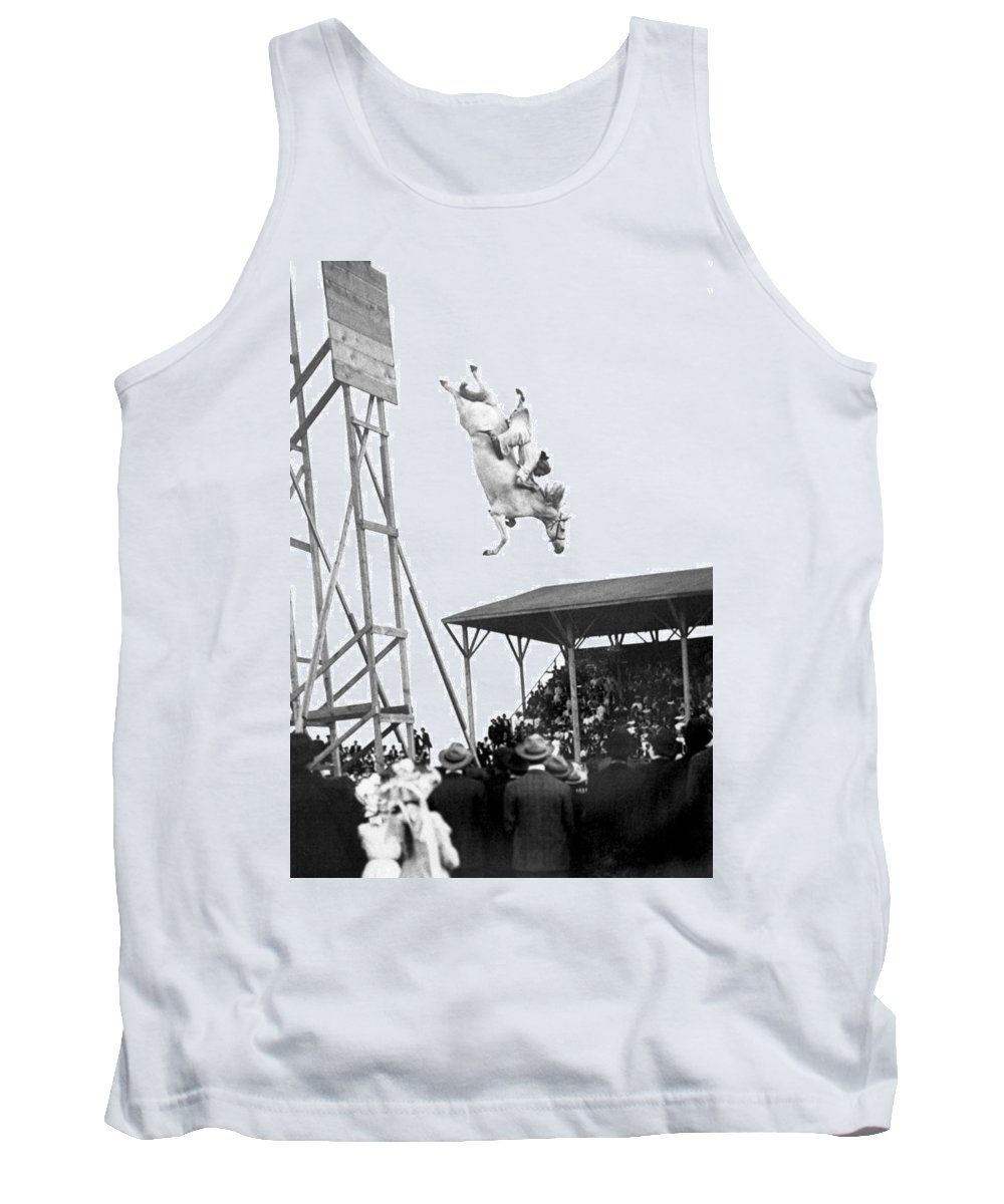 1905 Tank Top featuring the photograph Amazing Horse Stunt Dive by Underwood Archives