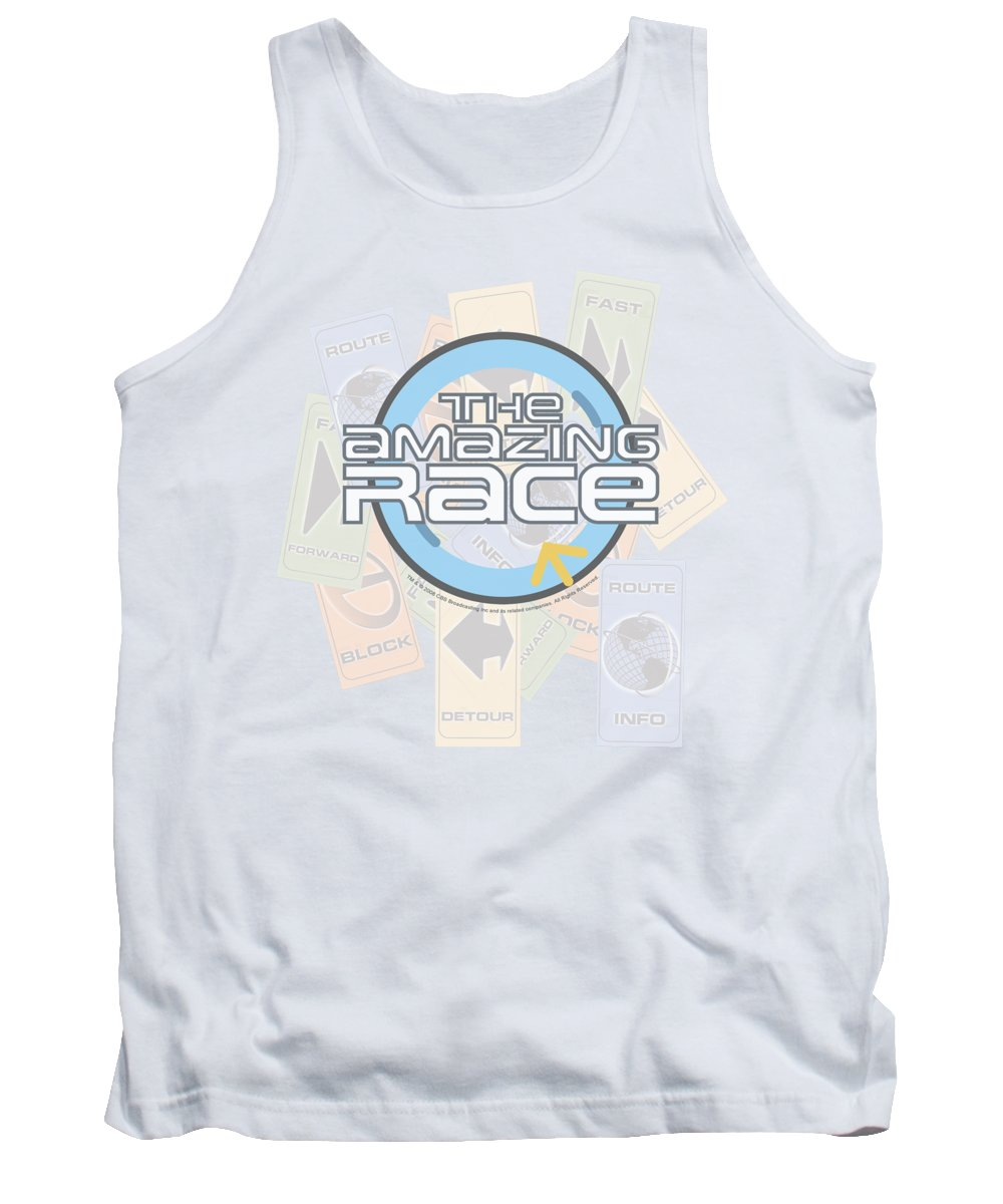 Amazing Race Tank Top featuring the digital art Amazing Race - The Race by Brand A