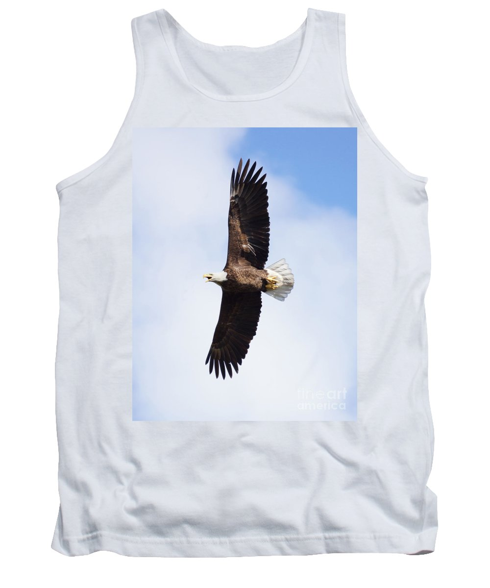 Eagle Tank Top featuring the photograph American Bald Eagle by Lori Tordsen