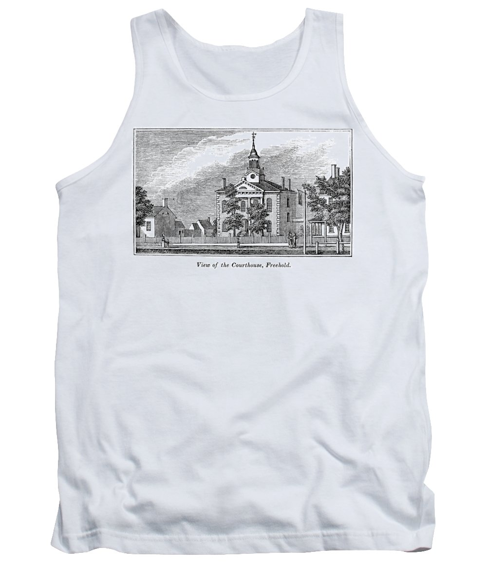 1844 Tank Top featuring the painting American Courthouse, 1844 by Granger