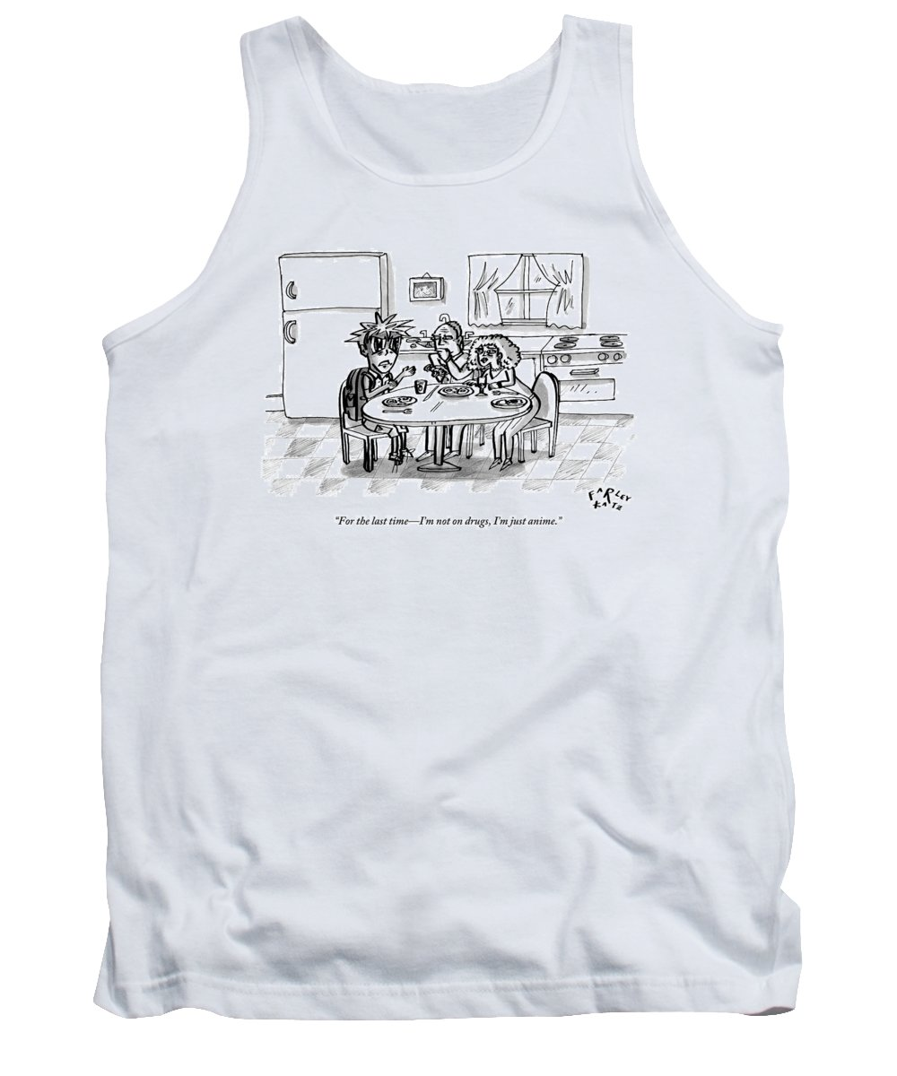An Boy Drawn In Characteristically Anime Style Tank Top For Sale By Farley Katz