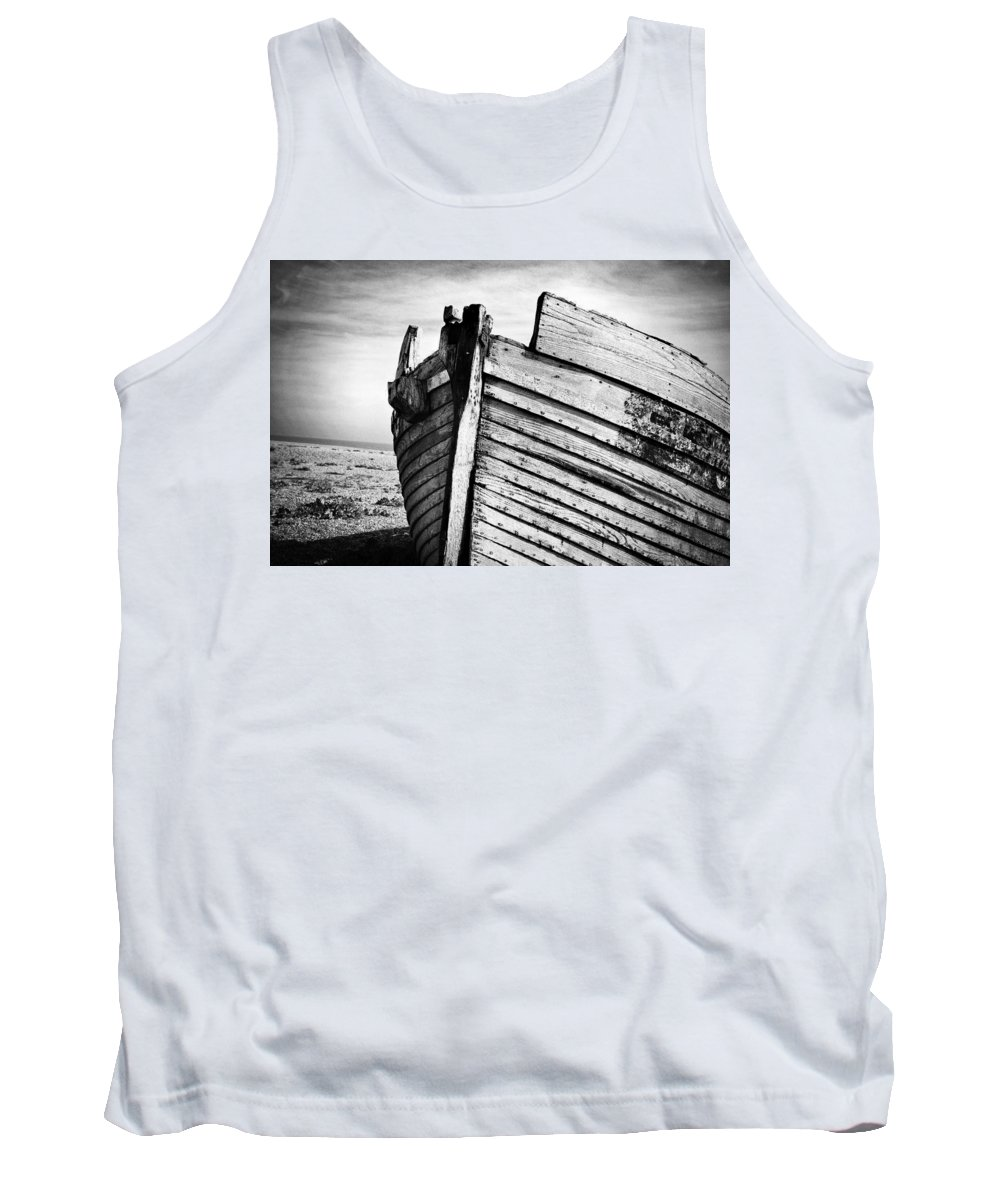 Boat Tank Top featuring the photograph An Old Wreck by David Hare