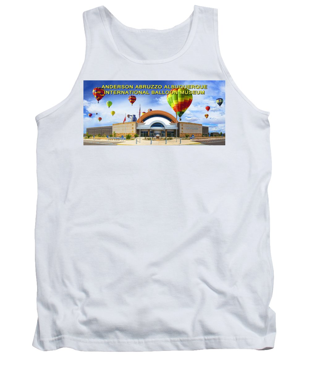 Clouds Tank Top featuring the photograph Anderson Abruzzo Albuquerque International Balloon Museum Poster by Brian King