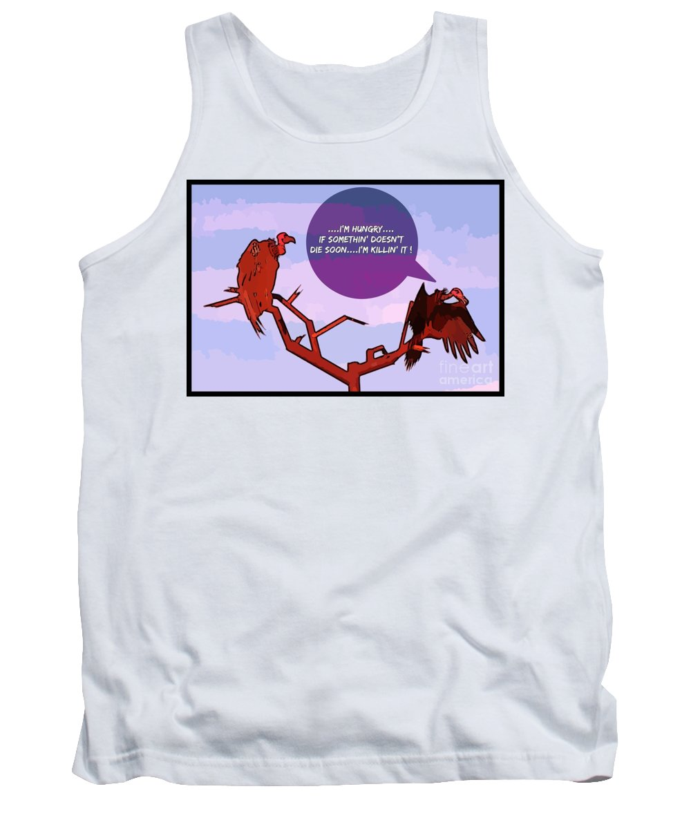Angry Birds Tank Top featuring the digital art Angry Birds by John Malone