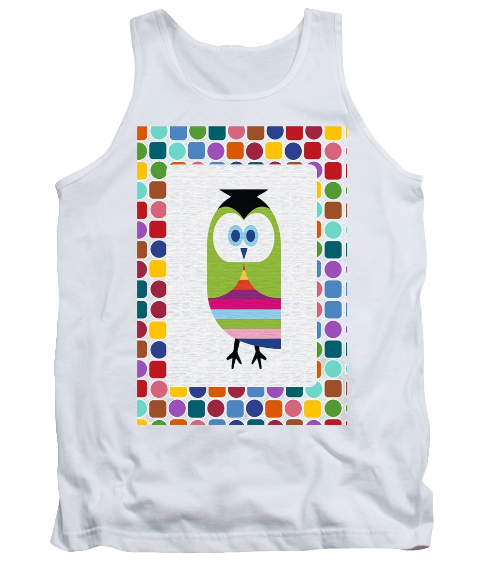Animal Tank Top featuring the digital art Animals Whimsical 5 by Angelina Vick