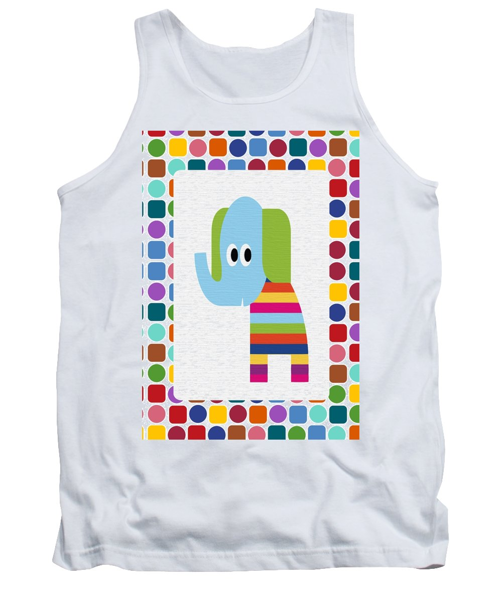 Animal Tank Top featuring the digital art Animals Whimsical 8 by Angelina Vick
