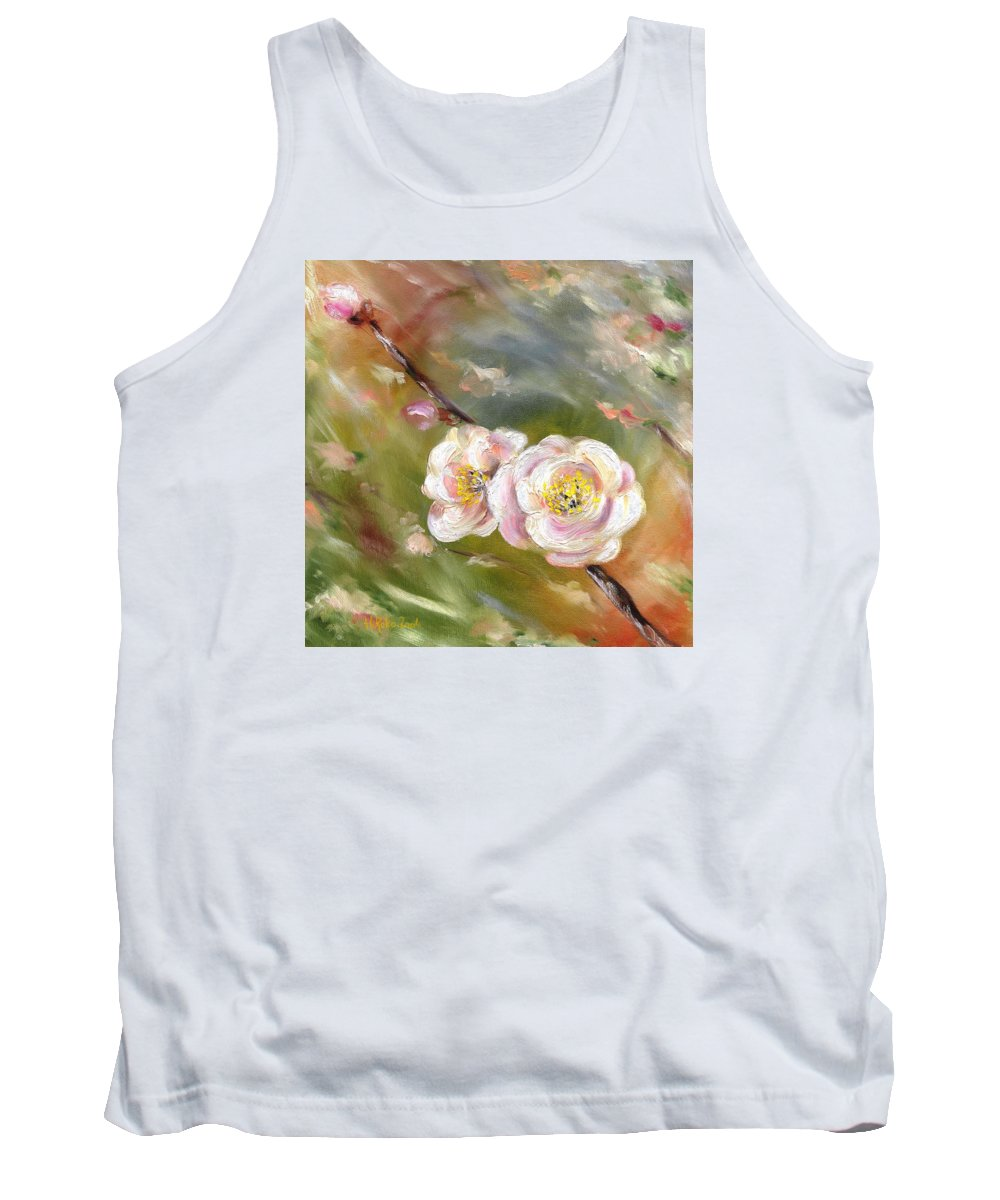 Flower Tank Top featuring the painting Anniversary by Hiroko Sakai