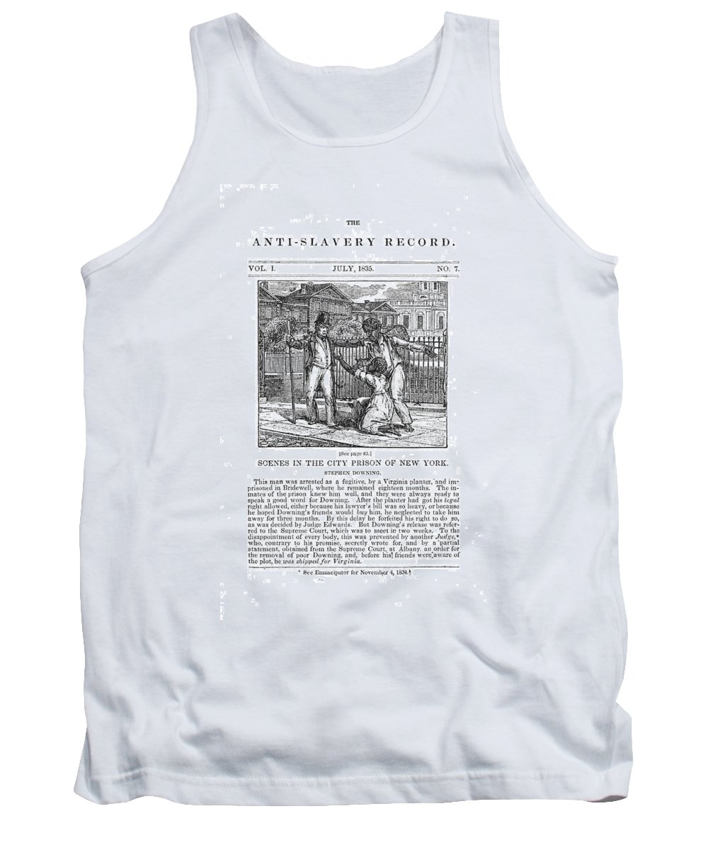 1835 Tank Top featuring the painting Anti-slavery, 1835 by Granger