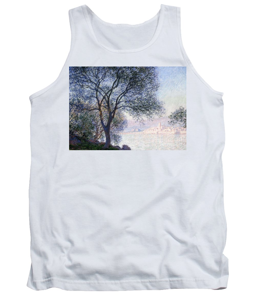 Monet Tank Top featuring the painting Antibes Seen From The Salis by Claude Monet
