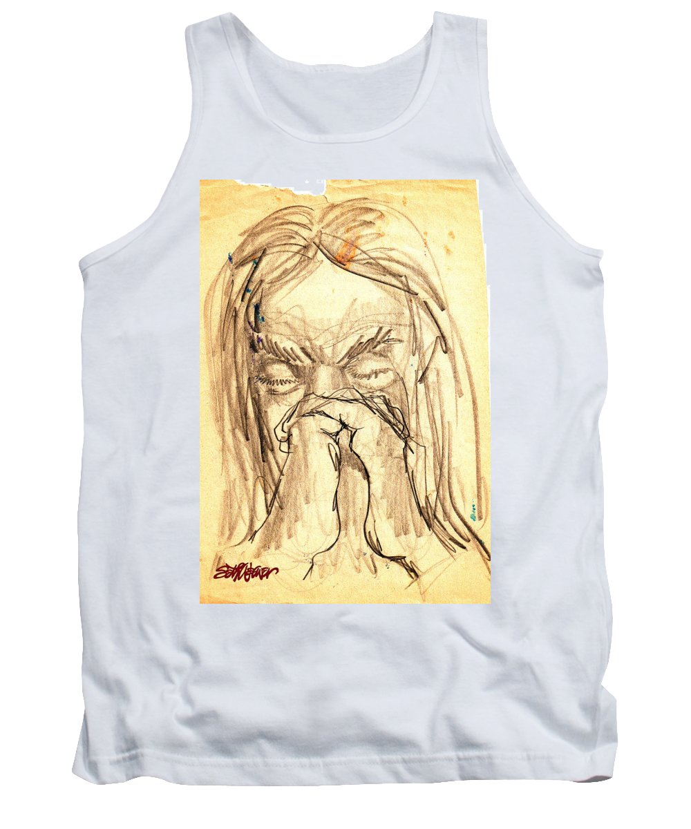 Apostle's Prayers Tank Top featuring the drawing Apostle's Prayers by Seth Weaver