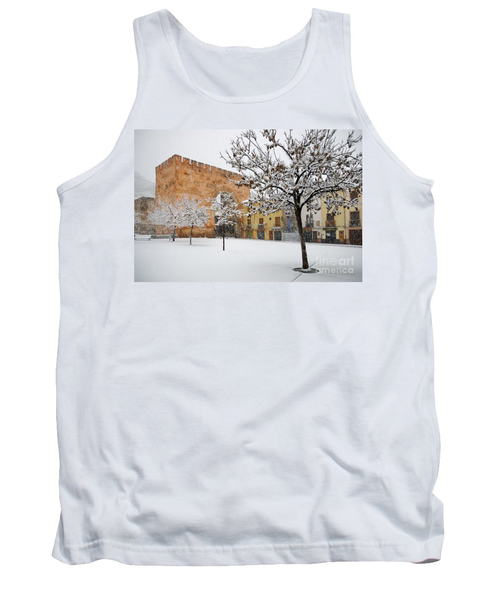 Arc Tank Top featuring the photograph Arc Of Elvira While A Snowstorm by Guido Montanes Castillo