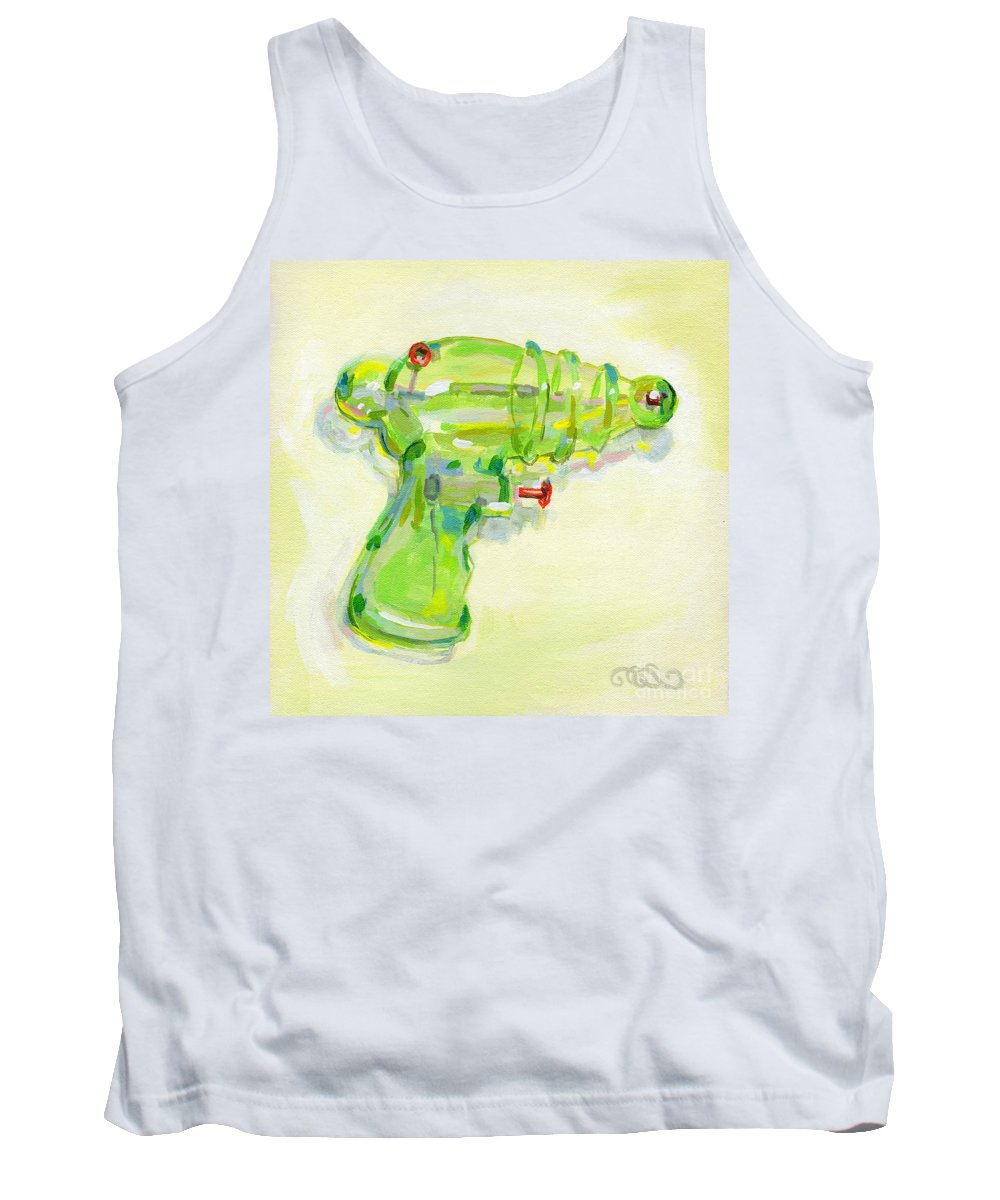 Squirt Gun Tank Top featuring the painting Armed And Dangerous by Kimberly Santini