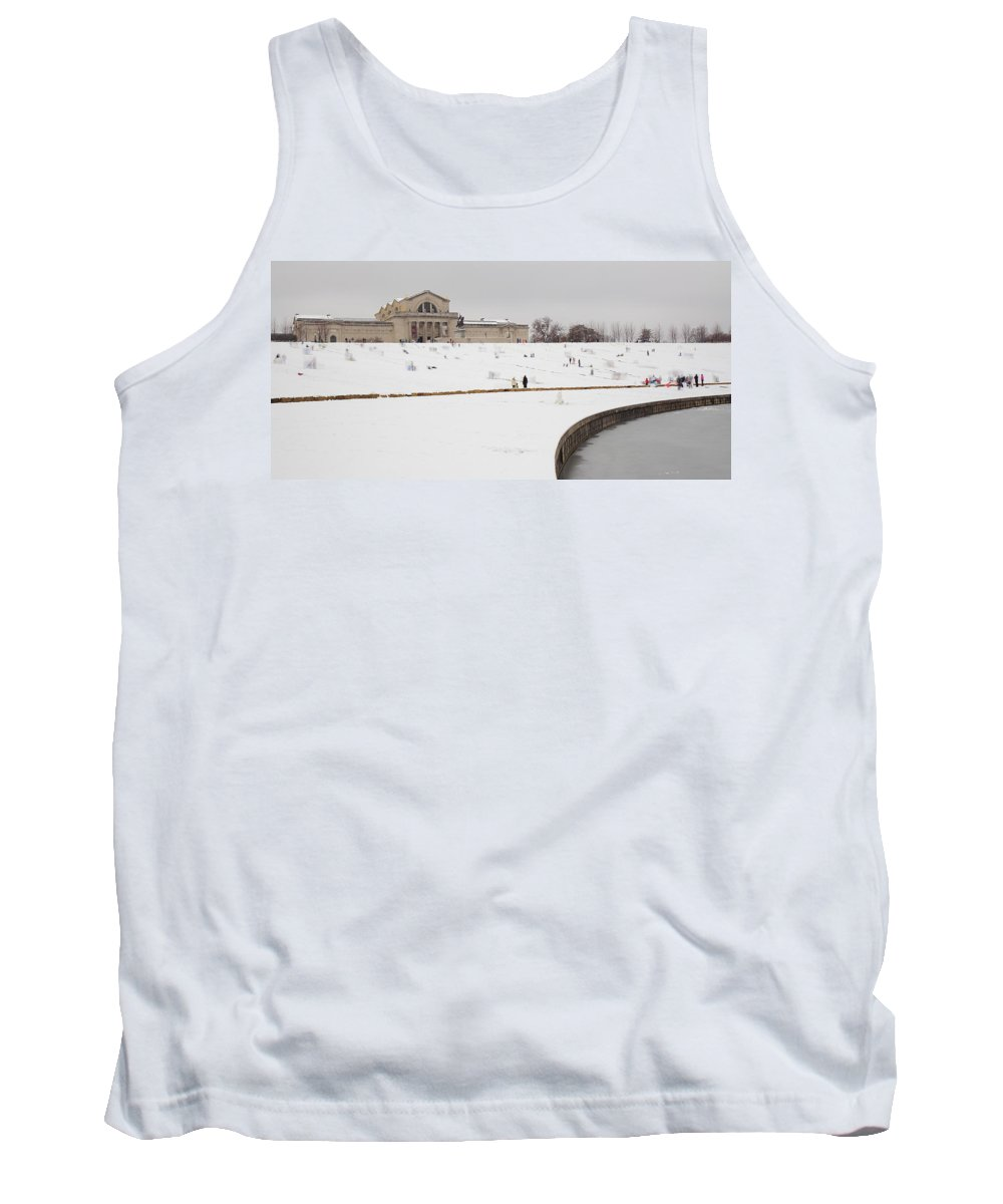 Forest Park Tank Top featuring the photograph Art Hill Sledding by Scott Rackers