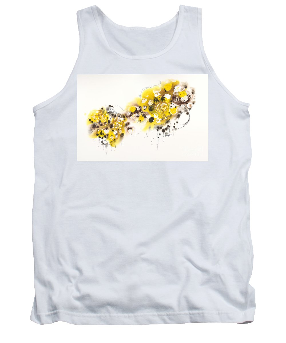 Aspens Tank Top featuring the painting Aspen Celebration #2 by Nadine Rippelmeyer
