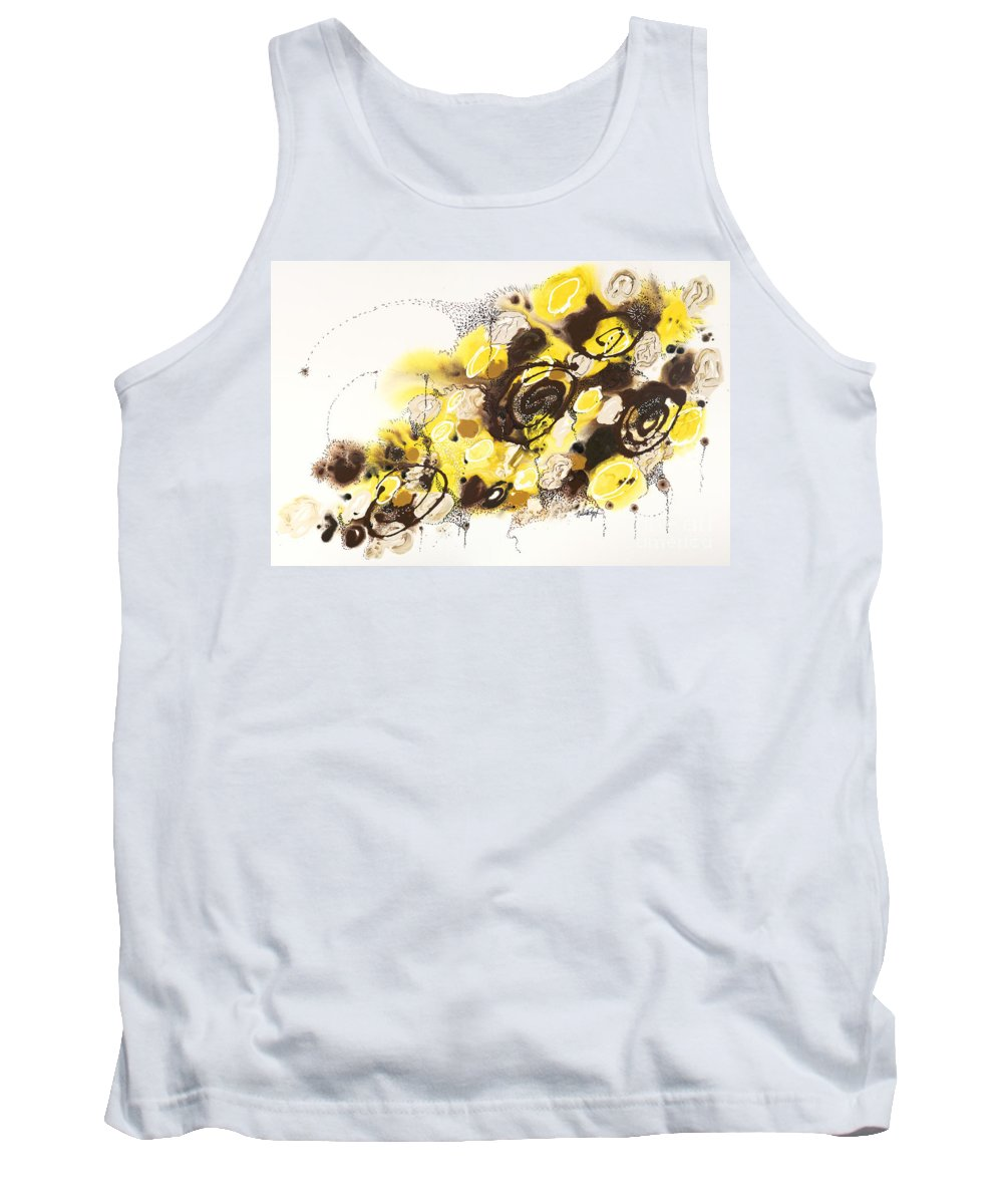Aspen Tank Top featuring the painting Aspen Celebration #4 by Nadine Rippelmeyer